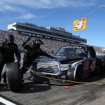 during the NASCAR Camping World Truck Series UNOH 175 at New Hampshire Motor Speedway on September 26, 2015 in Loudon, New Hampshire.