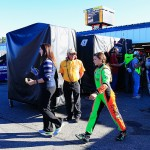 LOUDON, NH - SEPTEMBER 27:  Danica Patrick, driver of the #10 GoDaddy Chevrolet, walks through the garage area after being involved in an on-track incident during the NASCAR Sprint Cup Series SYLVANIA 300 at New Hampshire Motor Speedway on September 27, 2015 in Loudon, New Hampshire.  (Photo by Chris Trotman/Getty Images)