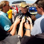 "Jim Hunter was a fixture in the NASCAR garage and the PR ""face"" of the sport for years (Getty Images)"