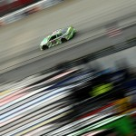 DOVER, DE - OCTOBER 04:  Kyle Busch, driver of the #18 Interstate Batteries Toyota, races during the NASCAR Sprint Cup Series AAA 400 at Dover International Speedway on October 4, 2015 in Dover, Delaware.  (Photo by Patrick Smith/Getty Images)