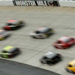 DOVER, DE - OCTOBER 04:  A view of race action during the NASCAR Sprint Cup Series AAA 400 at Dover International Speedway on October 4, 2015 in Dover, Delaware.  (Photo by Patrick Smith/Getty Images)