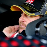 KANSAS CITY, KS - OCTOBER 17:  Kurt Busch, driver of the #41 Haas Automation Chevrolet, sits in his car during practice for the NASCAR Sprint Cup Series Hollywood Casino 400 at Kansas Speedway on October 17, 2015 in Kansas City, Kansas.  (Photo by Jerry Markland/Getty Images)