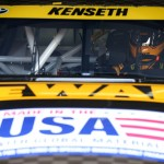 TALLADEGA, AL - OCTOBER 23:  Matt Kenseth, driver of the #20 DeWalt Toyota, sits in his car during practice for the NASCAR Sprint Cup Series CampingWorld.com 500 at Talladega Superspeedway on October 23, 2015 in Talladega, Alabama.  (Photo by Patrick Smith/Getty Images)