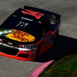MARTINSVILLE, VA - OCTOBER 30:  Tony Stewart, driver of the #14 Bass Pro Shops/Mobil 1 Chevrolet, practices for the NASCAR Sprint Cup Series Goody's Headache Relief Shot 500 at Martinsville Speedway on October 30, 2015 in Martinsville, Virginia.  (Photo by Robert Laberge/Getty Images)