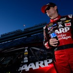 MARTINSVILLE, VA - OCTOBER 30:  Jeff Gordon, driver of the #24 AARP Member Advantages Chevrolet, stands on the grid during qualifying for the NASCAR Sprint Cup Series Goody's Headache Relief Shot 500 at Martinsville Speedway on October 30, 2015 in Martinsville, Virginia.  (Photo by Robert Laberge/Getty Images)