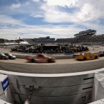 MARTINSVILLE, VA - OCTOBER 31:  A general view of racing during the NASCAR Camping World Truck Series Kroger 200 at Martinsville Speedway on October 31, 2015 in Martinsville, Virginia.  (Photo by Jonathan Moore/Getty Images)