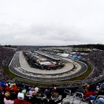 MARTINSVILLE, VA - NOVEMBER 01:  A general view of the race action during the NASCAR Sprint Cup Series Goody's Headache Relief Shot 500 at Martinsville Speedway on November 1, 2015 in Martinsville, Virginia.  (Photo by Jeff Zelevansky/Getty Images)