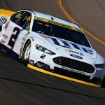 AVONDALE, AZ - NOVEMBER 13:  Brad Keselowski, driver of the #2 Miller Lite Ford, practices for the NASCAR Sprint Cup Series Quicken Loans Race for Heroes 500 at Phoenix International Raceway on November 13, 2015 in Avondale, Arizona.  (Photo by Chris Trotman/Getty Images)