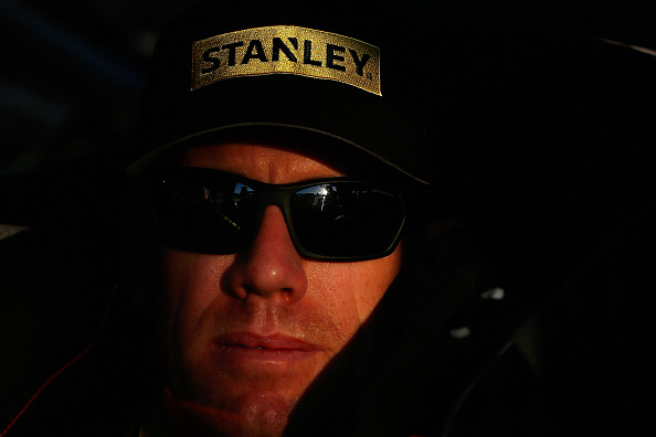 AVONDALE, AZ - NOVEMBER 13:  Carl Edwards, driver of the #19 Stanley Toyota, sits in his car during qualifying for the NASCAR Sprint Cup Series Quicken Loans Race for Heroes 500 at Phoenix International Raceway on November 13, 2015 in Avondale, Arizona.  (Photo by Christian Petersen/Getty Images)