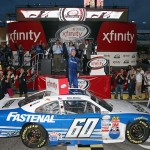 during the NASCAR XFINITY Series Ford EcoBoost 300 at Homestead-Miami Speedway on November 21, 2015 in Homestead, Florida.