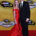 LAS VEGAS, NV - DECEMBER 04:  NASCAR Sprint Cup Series driver Brad Keselowski and his girlfriend Paige White attends the 2015 NASCAR Sprint Cup Series Awards at Wynn Las Vegas on December 4, 2015 in Las Vegas, Nevada.  (Photo by Ethan Miller/Getty Images)