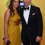 LAS VEGAS, NV - DECEMBER 04:  NASCAR Sprint Cup Series driver Jamie McMurray and wife Christy Futrell attend the 2015 NASCAR Sprint Cup Series Awards at Wynn Las Vegas on December 4, 2015 in Las Vegas, Nevada.  (Photo by Ethan Miller/Getty Images)