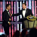 LAS VEGAS, NV - DECEMBER 04:  NASCAR Sprint Cup Series driver Jeff Gordon (L) is introduced by actor Tom Cruise during the 2015 NASCAR Sprint Cup Series Awards show at Wynn Las Vegas on December 4, 2015 in Las Vegas, Nevada.  (Photo by Ethan Miller/Getty Images)