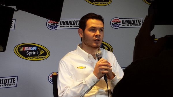 Kyle Larson Thursday at the NASCAR Media Tour (Greg Engle)