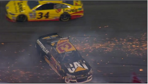 Six cars were involved in a crash Wednesday at Daytona (NASCAR)