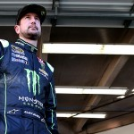 DAYTONA BEACH, FL - FEBRUARY 12:  Kurt Busch, driver of the #41 Monster Energy/Haas Automation Chevrolet, looks on in the garage area during practice for the NASCAR Sprint Cup Series Sprint Unlimited at Daytona International Speedway on February 12, 2016 in Daytona Beach, Florida.  (Photo by Sean Gardner/Getty Images)