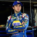 DAYTONA BEACH, FL - FEBRUARY 13:  Chase Elliott, driver of the #24 NAPA Auto Parts Chevrolet, looks on in the garage area during practice for the NASCAR Sprint Cup Series Daytona 500 at Daytona International Speedway on February 13, 2016 in Daytona Beach, Florida.  (Photo by Jared C. Tilton/Getty Images)