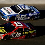 DAYTONA BEACH, FL - FEBRUARY 17: Clint Bowyer, driver of the #15 5-hour Energy Chevrolet, races Ricky Stenhouse Jr., driver of the #17 Fastenal Ford, during practice for the Daytona 500 at Daytona International Speedway on February 17, 2016 in Daytona Beach, Florida.  (Photo by Sean Gardner/Getty Images)