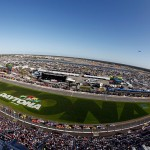 DAYTONA BEACH, FL - FEBRUARY 20: A general view of the speedway during the NASCAR XFINITY Series PowerShares QQQ 300 at Daytona International Speedway on February 20, 2016 in Daytona Beach, Florida.  (Photo by Brian Lawdermilk/Getty Images)