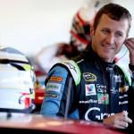 AVONDALE, AZ - MARCH 12: Kasey Kahne, driver of the #5 Great Clips Chevrolet, stands in the garage area during practice for the NASCAR Sprint Cup Series Good Sam 500 at Phoenix International Raceway on March 12, 2016 in Avondale, Arizona.  (Photo by Sean Gardner/Getty Images)
