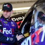 AVONDALE, AZ - MARCH 12:  Denny Hamlin, driver of the #11 FedEx Freight Toyota, prepares to drive during practice for the NASCAR Sprint Cup Series Good Sam 500 at Phoenix International Raceway on March 12, 2016 in Avondale, Arizona.  (Photo by Jared C. Tilton/Getty Images)