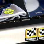 MARTINSVILLE, VA - APRIL 01:  A towel rests on the #48 Lowe's Chevrolet, driven by Jimmie Johnson (not pictured), during practice for the NASCAR Sprint Cup Series STP 500 at Martinsville Speedway on April 1, 2016 in Martinsville, Virginia.  (Photo by Sarah Crabill/Getty Images)