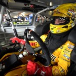 during practice for the NASCAR Sprint Cup Series STP 500 at Martinsville Speedway on April 1, 2016 in Martinsville, Virginia.