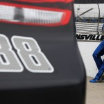 during qualifying for the NASCAR Sprint Cup Series STP 500 at Martinsville Speedway on April 1, 2016 in Martinsville, Virginia.