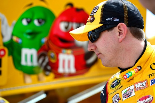 Kyle Busch in the garage area Friday at Bristol Motor Speedway (Getty Images)