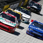 during the NASCAR XFINITY Series Fitzgerald Glider Kits 300 at Bristol Motor Speedway on April 16, 2016 in Bristol, Tennessee.