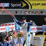 Carl Edwards won the NASCAR Sprint Cup Series Food City 500 at Bristol Motor Speedway on April 17, 2016 in Bristol, Tennessee. (Getty Images)