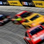 during the NASCAR Sprint Cup Series Food City 500 at Bristol Motor Speedway on April 17, 2016 in Bristol, Tennessee.