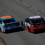 during the NASCAR Sprint Cup Series TOYOTA OWNERS 400 at Richmond International Raceway on April 24, 2016 in Richmond, Virginia.