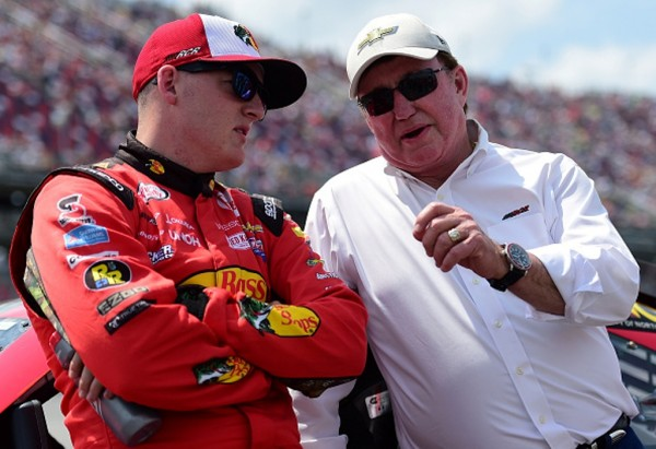 TY Dillon and grandfather Richard Childress at Talladega Saturday.