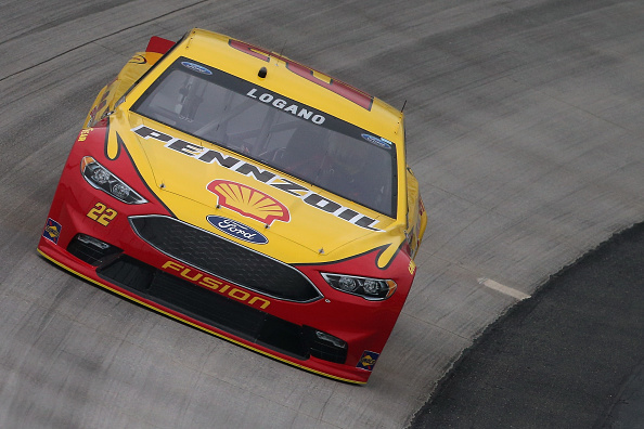 Joey Logano on track during practice for the NASCAR Sprint Cup Series AAA 400 Drive For Autism at Dover International Speedway on May 13, 2016 in Dover, Delaware.