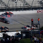during the NASCAR Camping World Truck Series JACOB Companies 200 at Dover International Speedway on May 13, 2016 in Dover, Delaware.