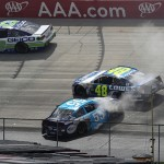 during the NASCAR Sprint Cup Series AAA 400 Drive for Autism at Dover International Speedway on May 15, 2016 in Dover, Delaware.