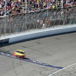during the NASCAR Sprint Cup Series FireKeepers Casino 400 at Michigan International Speedway on June 12, 2016 in Brooklyn, Michigan.
