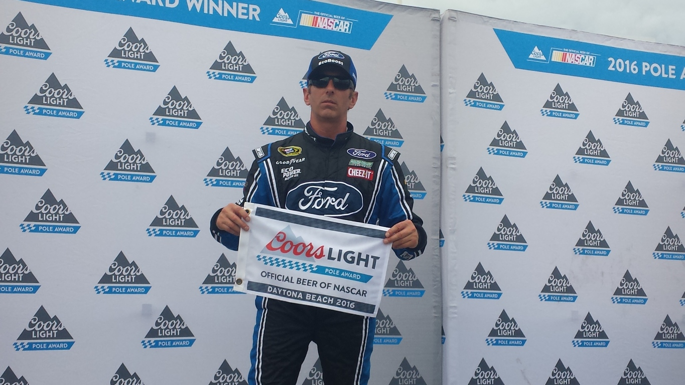 Greg Biffle won his first pole in four years Friday at Daytona. (Photo: Greg Engle)