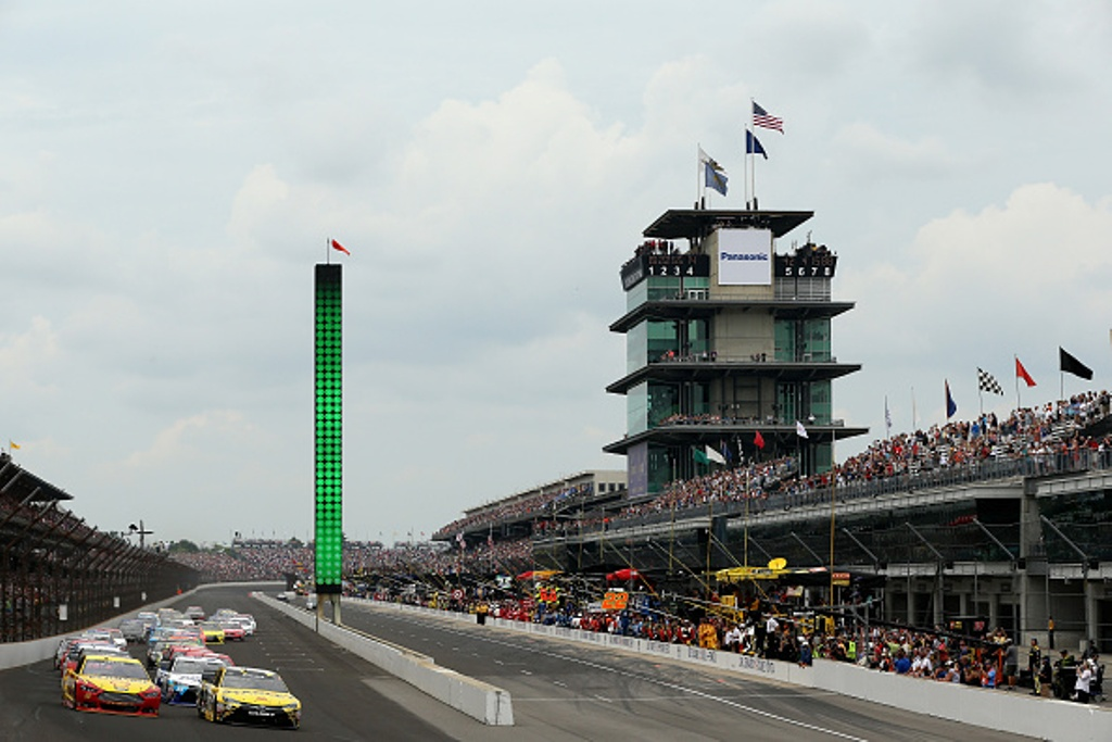 The NASCAR Sprint Cup Crown Royal presents the Combat Wounded Coalition 400 at the Brickyard at Indianapolis Motor Speedway will be run on Sunday July 24.   (Getty Images)