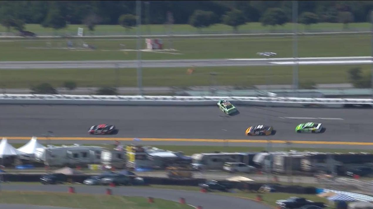 Kyle Busch crashes during practice Friday at Daytona