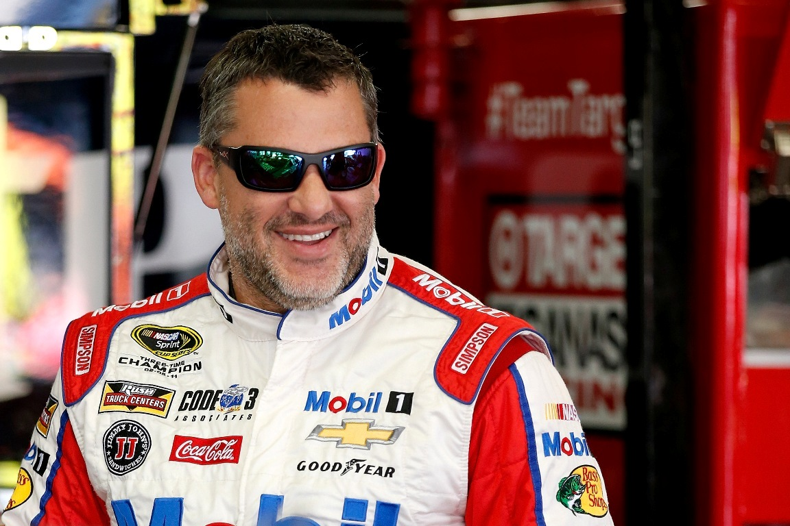 Tony Stewart finished second Sunday. (Getty Images for NASCAR)