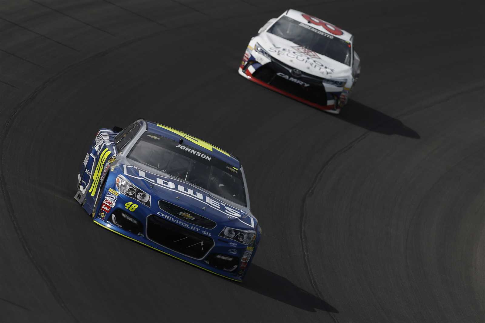 Jimmie Johnson led 37 laps at Michigan Sunday (Getty Images)