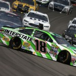Kyle Busch, driver of the #18 Interstate Batteries Toyota, spins during an on track incident during the NASCAR Sprint Cup Series Pure Michigan 400 at Michigan International Speedway on August 28, 2016 in Brooklyn, Michigan. (Getty Images)