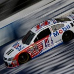 Tony Stewart topped the speed chart in Saturday morning's first NASCAR Sprint Cup practice session at 202.122 mph—faster than Joey Logano's pole speed of 201.698 from Friday afternoon. Rookie Ryan Blaney was second fastest on Saturday morning at 201.427 mph.  (Getty Images)