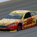 Joey Logano practices at Chicagoland Speedway (Getty Images)