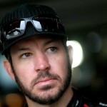 Martin Truex Jr. in the garage area Friday at Dover. (Getty Images)
