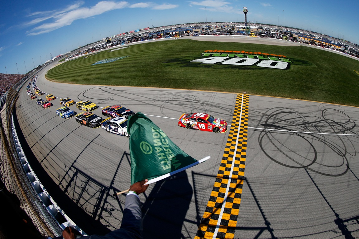 Kyle Busch led from pole Sunday. (Getty Images)
