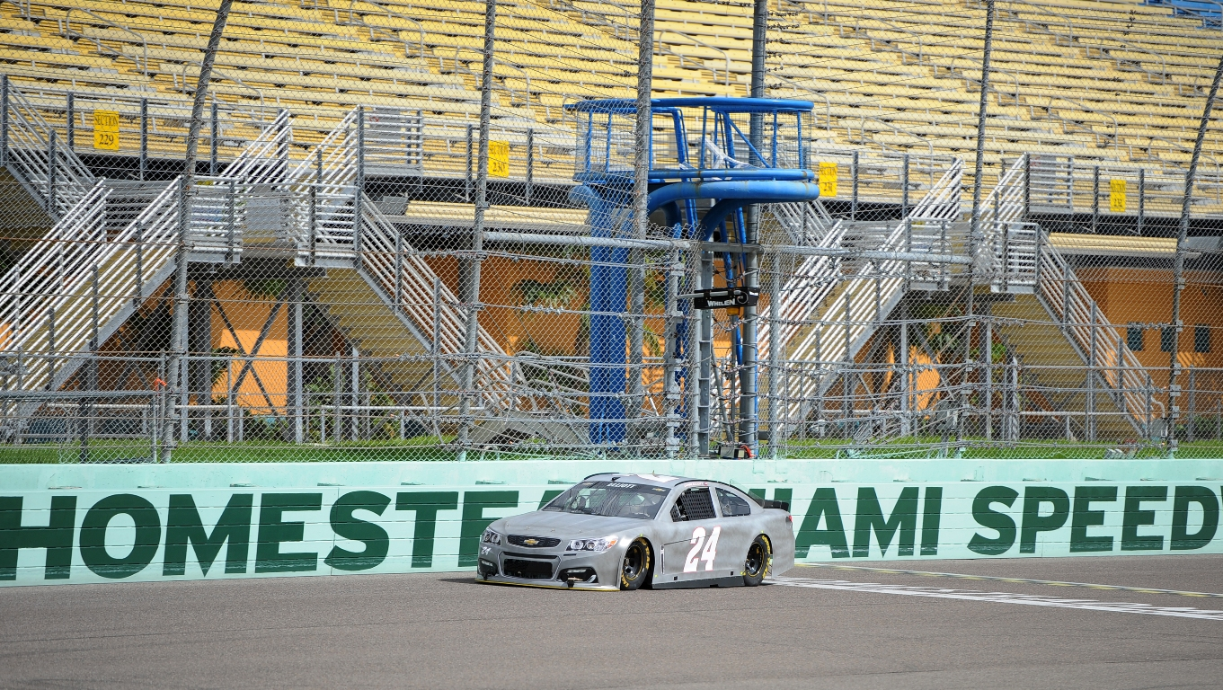 Chase Elliott is among 11 drivers testing at Homestead this week. (HMS)
