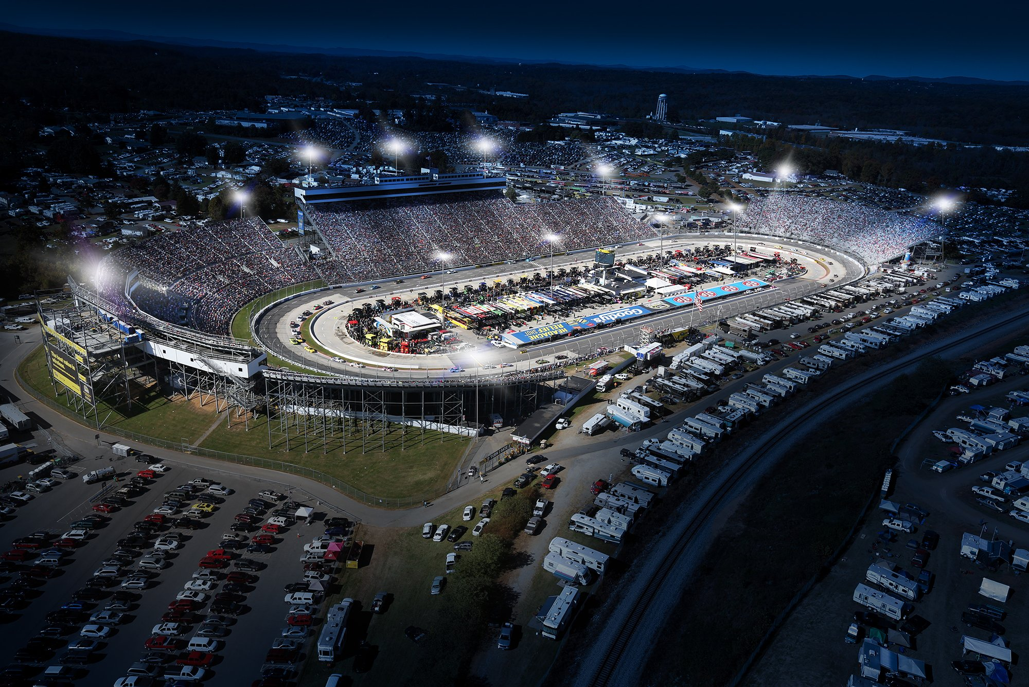 An artists conception of the new LED lighting system at Martinsville was released Wednesday (Getty Images)